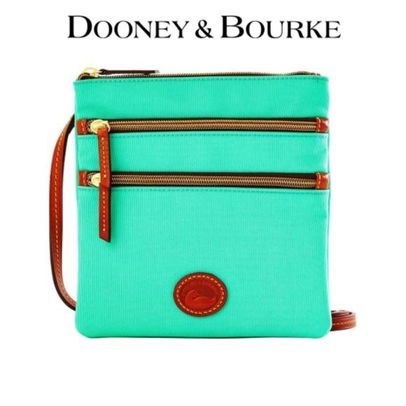 Dooney & Bourke Handbags - Dooney & Bourke Crossbody Triple Zip Bag Mint